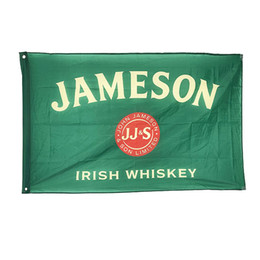 Discount jameson whiskey Jameson Irish Whiskey Flag Banner 3x5 Feet Man Cave Party Garden House Outdoor Free Fast Shipping