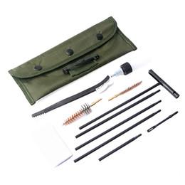 Wholesale 11 pcs set Rifle Gun Cleaning Kit Set .22cal Cleaning Rod Nylon Brush Cleaner Gun Clean Tools