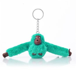 monkey handbags UK - Doll Keychain Fashion Monkey Pendant 3D For Plush Handbag Messenger Bag Purse Orangutan Plush Toy Animal Keyring Accessory