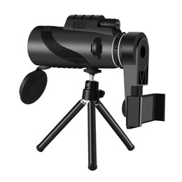 cell phone tripod adapter UK - Outdoor BAK4 Prism Monoculars Telescope 40x60 HD with Tripod Cell Phone Adapter Waterproof