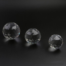 80mm Multi-Faceted Clear Crystal Flat Balls Natural Stone Suncatcher for Photography Window Wedding  Party Decoration on Sale