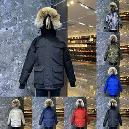 Wholesale womens downs jackets for sale - Group buy TOP Quality TOP New Mens Designers Winter Coats Down Parkas Womens Outerwear Clothes With Real Wolf Fur Men S Clothing Down Jackets