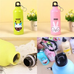 sport testing 2021 - High Capacity Cup Aluminum With Cartoon Animals Button Cute Sports Water Bottles Lion Duck Adult Children Mug Outdoor Tr