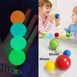 Luminous Ceiling Balls Stress Relief Sticky Ball Glued Target Ball Night Light Decompression Balls Slowly Squishy Glow Toys for Kids E121101 on Sale