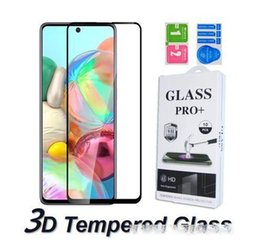 screen protector for galaxy s Australia - 3D 9H Full Cover Tempered Glass For Samsung Galaxy Note10 S10 Lite A30 50 70 A80 90 71 91 M10 M20 M60 S Screen Protector Curved Edge In Box