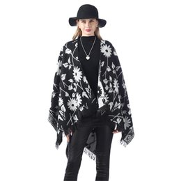 Discount wool blanket shawl Winter Scarf Women Female Wool Stylish Warm Blanket Cashmere Coat Cloak Thickening Double Sided Air Dual-Purpose Shawl p
