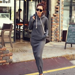 hoodie sweatshirt dress plus size Australia - Semfri Sweatshirt Women Long Spring Autumn Hoodies Dress 2019 Casual Plus Size Harajuku sudadera mujer Kpop Fashion Hoodies Coat Y1116