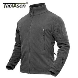 Wholesale jacket military resale online – TACVASEN Men Winter Fleece Military Tactical Coat Male Thermal Special Combat Army Autumn Hike Hunt Jacket Y1112