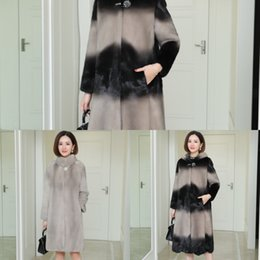 Wholesale womens winter fur hood coat resale online - Winter New Real Mink Fur Coats Womens Clothing Loose Plus Size xl High Quality Jacket Thicken Warm Luxury Overcoat Tops QXVZ