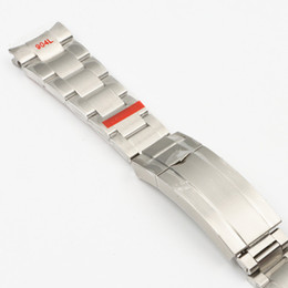 20mm 904L Stainless Steel Watchband For Fit Role-X Submariner Silver Special Arc End Wrist Strap Bracelet Men Butterfly Buckle on Sale