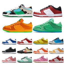 men low top sneakers NZ - Top Quality Chunky Dunky Low men women running shoes University Red green bear Kentucky Syracuse Safari womens sports sneakers size 36-45