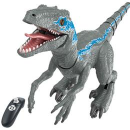 2.4G RC Dinosaur Intelligent Raptor Animal 65cm Remote Control Jurassic Toy Electric Walking Animals Toys For Children Gift on Sale