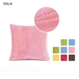 corduroy pillow covers Australia - Nola Striped Corduroy Decorative Pillow Cover Super Cozy Square Throw Pillowcase Cushion Case for Bed Couch Sofa Living Room Pillow Case