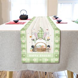 lapin court achat en gros de-news_sitemap_homePâques Gnome Table Runner Coton Draps Happy Pâques Gnomes Rabbit Bunny Bunny Oeufs de rectangle Non Slip Runner YYB4817
