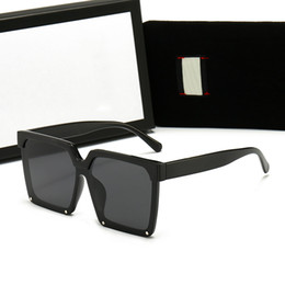 Wholesale 2021 Designer Square Sunglasses Men Women Vintage Shades Driving Polarized Male Sun Glasses Fashion Metal Plank Eyewear with box