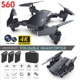 Großhandel Intelligente UAV S60 DRONE 4K-Beruf HD Weitwinkel-Kamera Wifi FPV-Drohnen Duale Kameras Höhenhilfe Hubschrauber Spielzeug