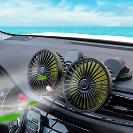 Vehicle Fan 12V 24v Double Headed Universal Large Truck Small Car Car Electric Fan Large Wind Power1 on Sale