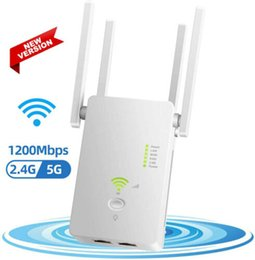 Wholesale Wifi Repeater Range Extender Wireless Signal Amplifier Router Dual Band 1200Mbps