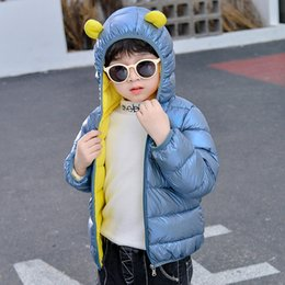 pink shiny jacket UK - HIPAC Boy Girl Winter Coat Fashion Shiny Child Jacket Windproof Baby Boys Girls Warm Children Outfits for Kids Clothes Snowsuit 201127