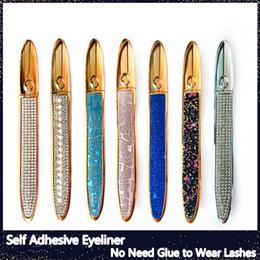 Eye-liner magique auto-adhésif pour faux cils Pas besoin de colle pour porter des cils Liquide Eye-liner fort Eyelin-cils auto-adhésifs fort en Solde