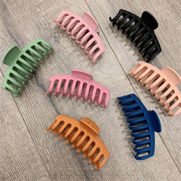 1Pc Korean Solid Big Hair Claws Elegant Frosted Acrylic Hair Clips Hairpins Barrette Headwear for Women Girls Hair Accessories on Sale