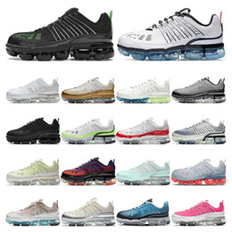 Wholesale cotton strike resale online - 2021 Mens sneakers running shoes Triple white Black Green Strike Metallic Silver Stone Mauve Barely Volt womens sports fashion outdoor