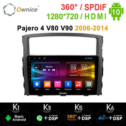 Discount gps inch for car Ownice Octa Core 4G LTE DSP Car Navigation Android 10.0 Radio GPS for Mitsubishi Pajero 4 V80 V90 2006-2014 360 Panorama