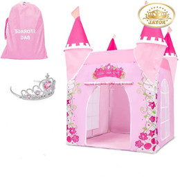 girls princess tents Australia - Child Toys Tents Castle Tent Girl Princess House Indoor Outdoor Kids Housees Play Ball Pit Pool Playhouse