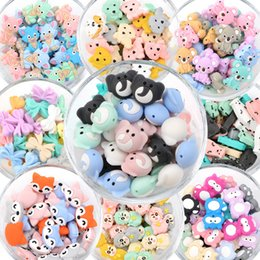 Großhandel Lofca 10 stücke Koala Silikon Perlen BPA Freies Lebensmittelgrad Baby Silikon Kinderkrankheiten Perlen Spielzeug Babypflege Schnuller Kette Geschenk DIY Q1214