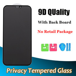 ingrosso privacy screen-Copertura completa Privacy Glass temperato per iPhone Mini Pro Max XR XS Plus Anti Spy Screen Protector D h Durezza