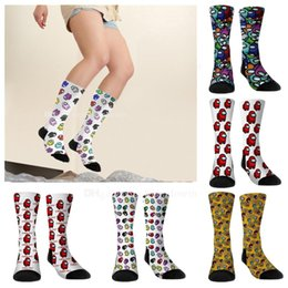Wholesale lighting sky anime resale online - Among us Game Socks Custom Cartoon Pattern Winter Anime Figure Adult Keep Warm Sock Cosplay Children s Toys Christmas goods Gift