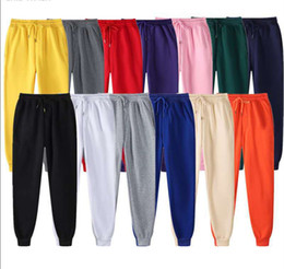 wholesale fashion sweatpants NZ - Fashion Men Women Joggers Sweatpants 2020 New Mens Autumn Winter Drawstring Track Pants 20ss Womens High Quality Street Sports Trousers