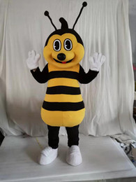 Wholesale high quality Real Pictures bee mascot Costume for Party Cartoon Character Mascot Costumes for Sale free shipping support customization