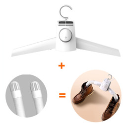 Wholesale Portable Clothes Dryer Electric Shoes Clothes Drying Rack Hangers Foldable Heater Hanger Dryer Folding and Firm for Travel