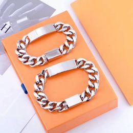 hot selling Quality Silver Titanium Steel Bracelet Men and Women Bracelet Chain Fashion Personality Hip-hop Bracelet Supply on Sale