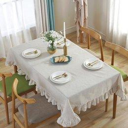Couleur Unie Coton Nappe Rectangulaire Square Table Nappe Couvre Table Decor