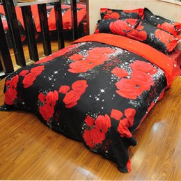3d floral duvet cover twin set 2020 - Coxeer Floral Bedding Set 3D Flowers Printed Polyester 230x200cm Duvet Cover Bedsheet with Pillow Sham Comforter Bedding