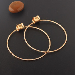 Punk Stainless Steel Ears Expander Rose Gold Plated Piercing Ear Tunnels Body Jewelry Plugs Puncture Hoop Earrings Women Fashion 4 1fp N2 on Sale