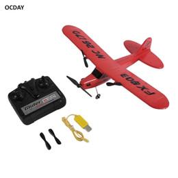 OCDAY Remote Control RC Plane Glider Aerodone Toy Children Audult Foam Airplane Red Blue Battery RC Drones LJ201210 on Sale