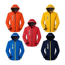 New wholesale Men Women Sports outdoor cardigan thickened red navy blue yellow orange reflective warm Windproof waterproof jacket M-4XL on Sale