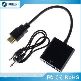 Горячий новый HDMI к кабелю данных VGA с адаптером видео-конвертера аудио кабель для Xbox 360 PS3 PC360 MQ100 на Распродаже
