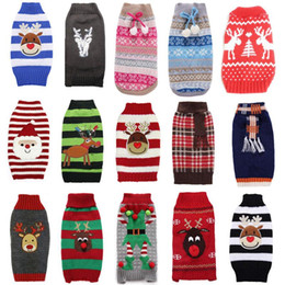 extra large jersey Australia - Christmas Pet Dog Sweater Clothes Winter Warm Dog Pullover Sweater Clothing For Small Large Dogs Knitting Costume Jersey Perro