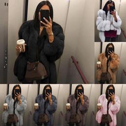 Women Faux Fur Coat Winter High Quality Thick Women Overcoat Warm Plus Size Plush Furry Female Jacket Coat Outerwear XS-5XL In Stock