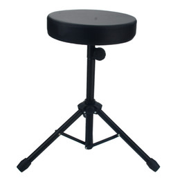 Wholesale New Drum Stool Non-adjustable Drum Chair Black Round Seat Rotatable Ion Band Performance Drum Stool Chair