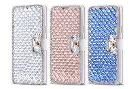 iphone 5c clear UK - Galaxy S7 Edge S5 Diamond Cell cover Luxury Stand Cover flip Case case for Iphone 7 6s plus Phone 5C S6 5 Note Qslra