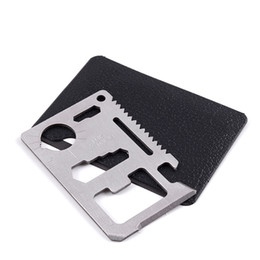 Wholesale Hunting Camping Survival Pocket Knife 11 In 1 Multi Tools Credit Card Knife Stainless Steel Outdoors Gear Survival Tools
