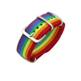 jewelry nepal NZ - Nepal Rainbow Lesbians Gays Bisexuals Bracelets for Women Men Couple Friendship Girls Pride Woven Jewelry Gift1