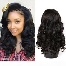loose curls human hair wigs UK - Big Curl Human Hair Lace Wig Peruvian Hair Loose Wave Wet and Wavy Fashion Lace Front Wig