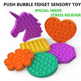 Wholesale Push Pop Bubble Sensory Toy Autism Needs Squishy Stress Reliever Toys Adult Kid Funny Anti-stress Pop It Fidget Reliver Stress