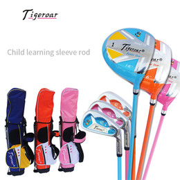 tigeroar Children's golf club sets 4-14 years old combination golf clubs Junior golf sets with bag outdoor equipment on Sale